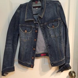 AG gold jean jacket sz small